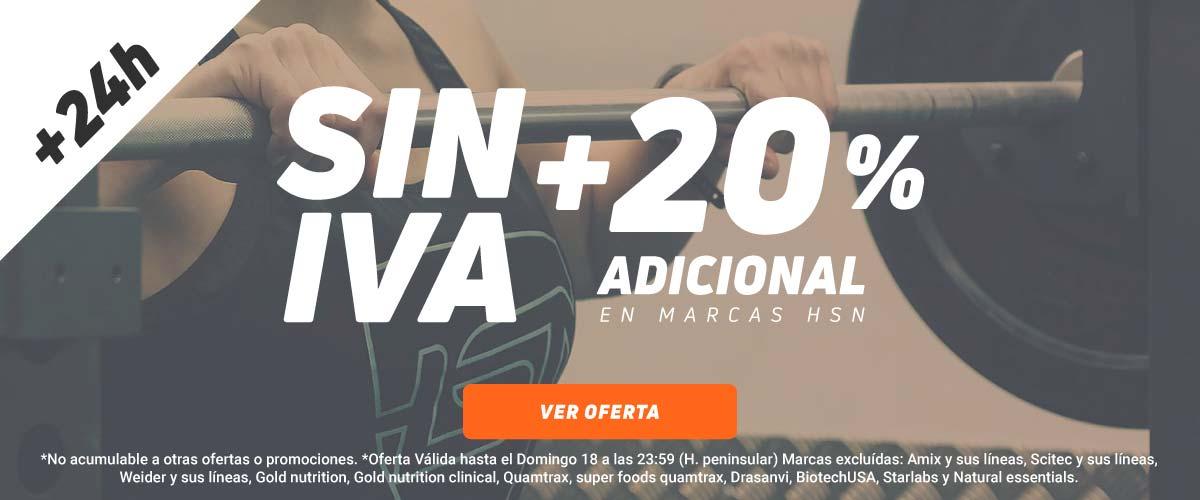 SIN IVA + -20% en HSN