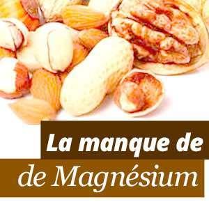 Le manque de magnésium