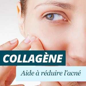 Le collagène aide à réduire l'acné