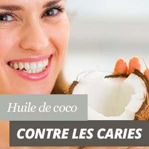 Huile de coco pour les caries