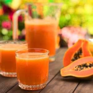 Zumo de papaya para tomar