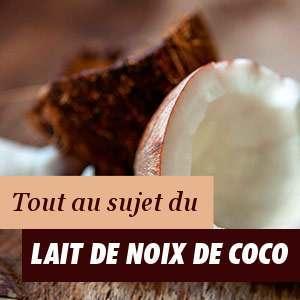 Propriétés du lait de coco