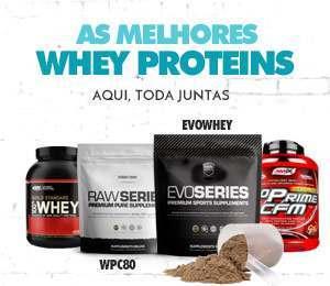 As melhores Whey Proteins aquí todas juntas